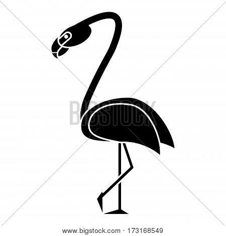 flamingo bird tropical pictogram vector illustration eps 10