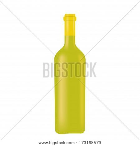 green glass bottle wine design vector illustration eps 10