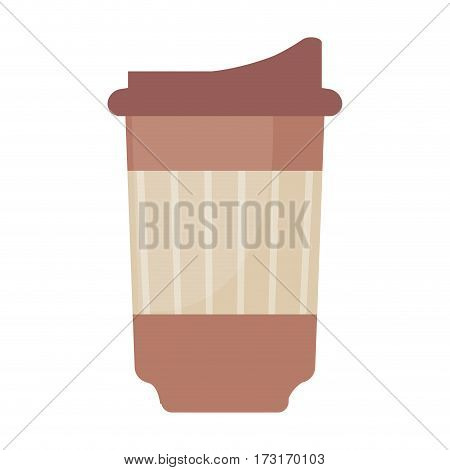 paper cup coffee disposable vector illustration eps 10
