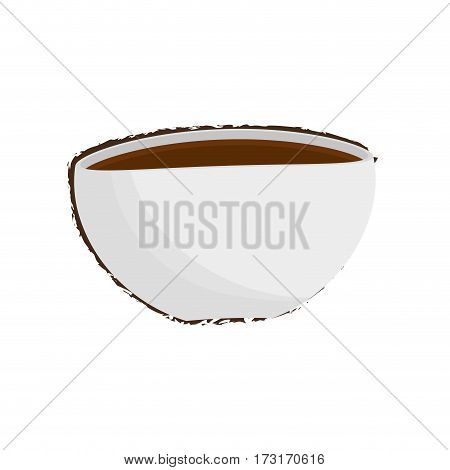 cup coffee cappuccino drink vector illustration eps 10