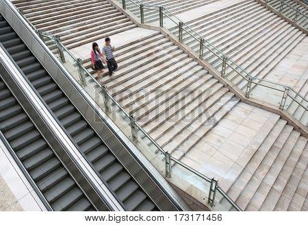 Modern urban outdoor stairs