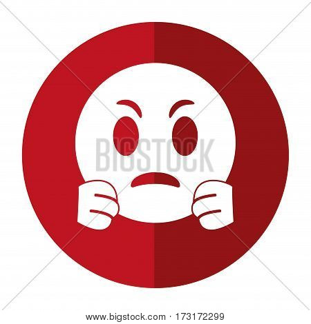 angry emoticon funny shadow vector illustration eps 10