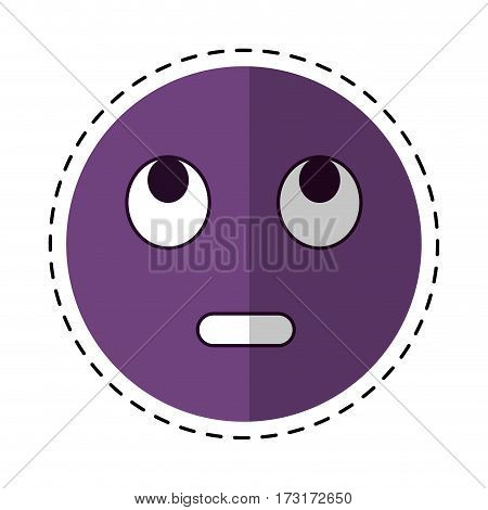 cartoon eye rolling emoticon funny icon vector illustration eps 10