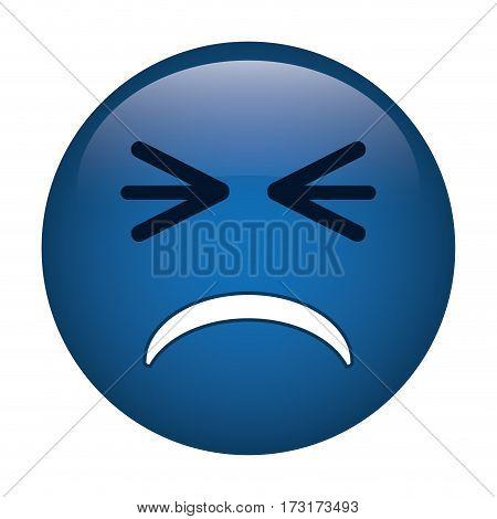 unhappy face emoticon funny icon vector illustration eps 10