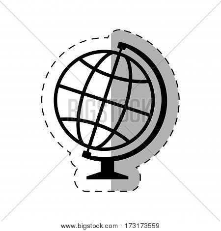 school globe map thin line vector illustration eps 10