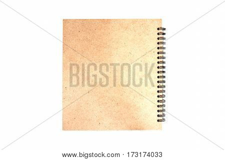 brown note book isolate on white background