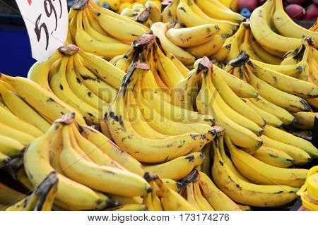 Pictures of sale of greengrocers, bananas, bananas, sale tag
