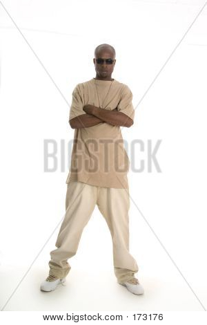 Hip Young Man Standing