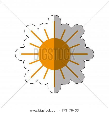 sun energy natural icon vector illustration eps 10
