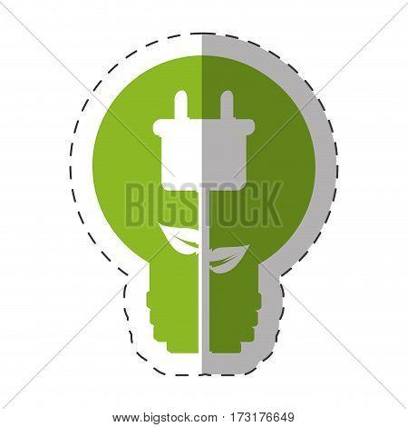 environment bulb plug energy design vector illustration eps 10
