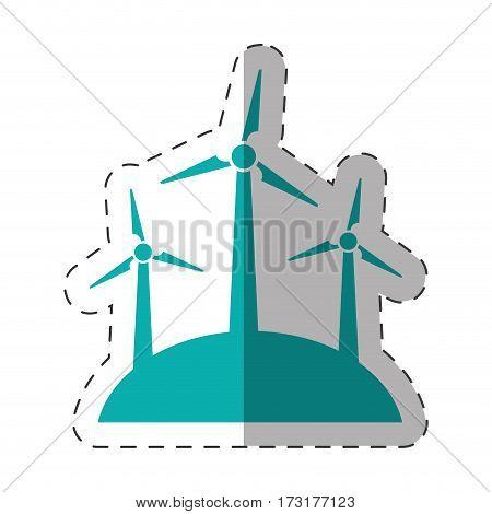wind turbine energy environment design vector illustration eps 10