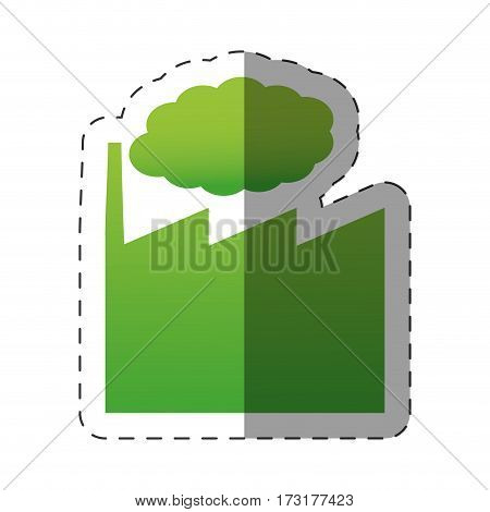 green building factory environment vector illustration eps 10