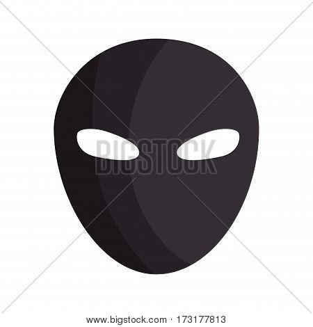 color silhouette with thief mask vector illustration