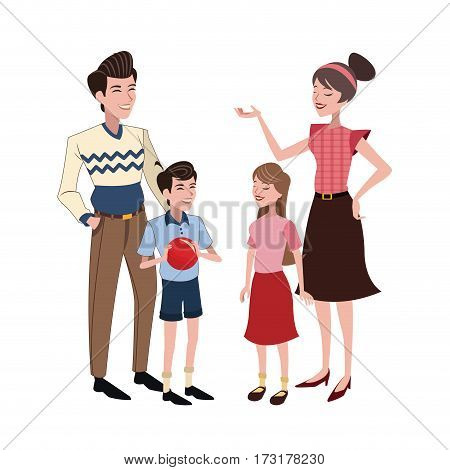 family relation happy vector illustration eps 10