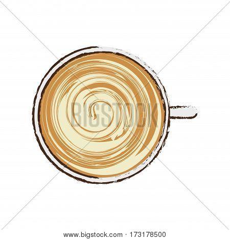 coffee cup cappuccino beverage vector illustration eps 10