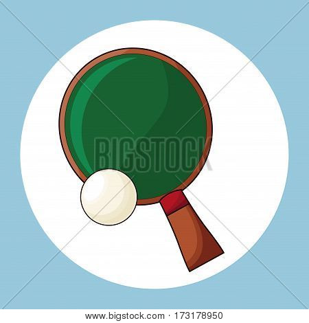 racket and ball ping pong vector illustration eps 10