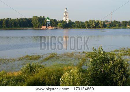 Early July morning on the river Sohaga. Poshekhon'ye. Yaroslavl region. Russia