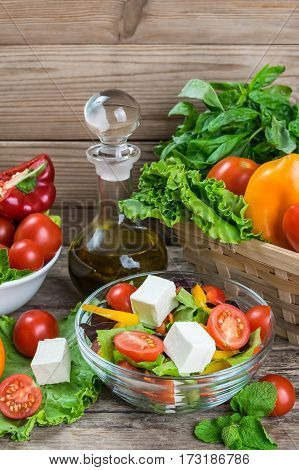 Salad With Vegetables And Feta