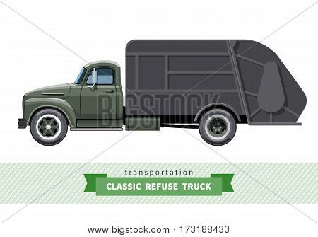 Classic Refuse Truck Side View