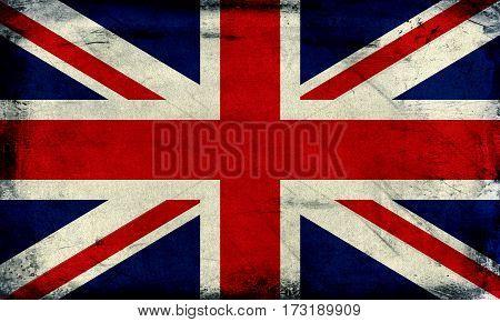 Vintage grunge United Kingdom flag background textured