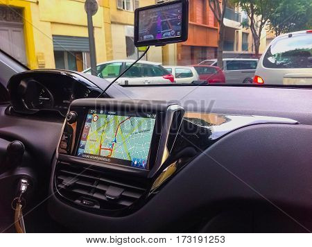 The Navigation system in the abstract car