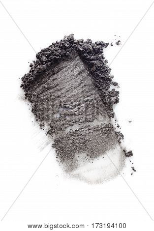 Smear Of Crushed Gray Eyeshadow As Sample Of Cosmetic Product