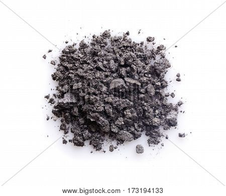 Gray Powder Eyeshadow For Makeup As Sample Of Cosmetic Product