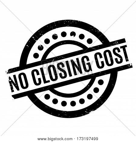 No Closing Cost rubber stamp. Grunge design with dust scratches. Effects can be easily removed for a clean, crisp look. Color is easily changed.