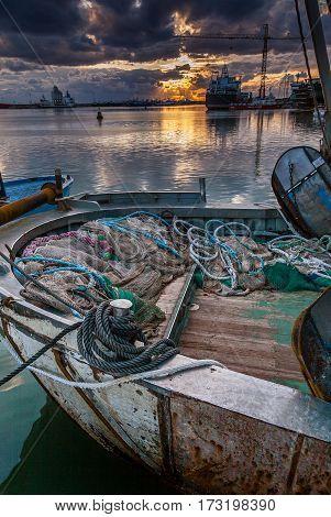 Italy, Sicily, Mazara Del Vallo (trapani Province) - Boat