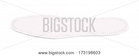 Single shoe insole isolated over the white background