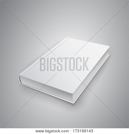 Realistic book with white cover. Mock Up of books. Vector illustration