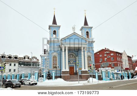 Kazan, Tatarstan, Russia - February 1, 2017.Kazan Roman Catholic parish