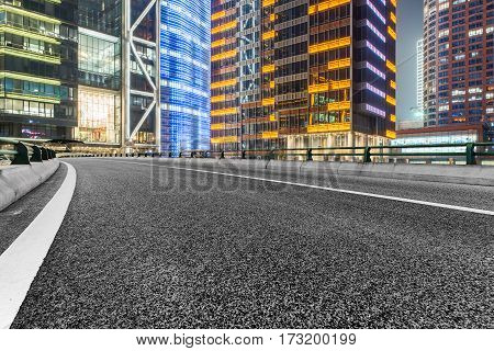 urban road through modern city of Shanghai,China.