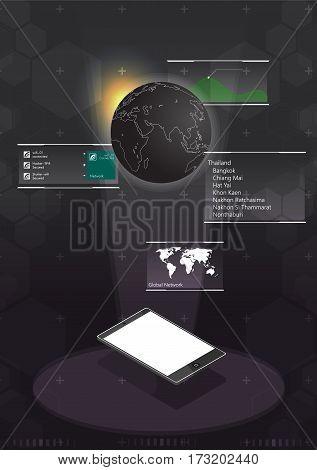 smart phone display hologram world 3d techonology