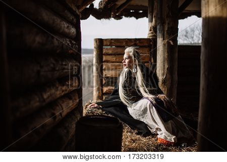 Portrait Of A Blonde Viking
