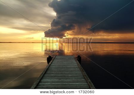 Dramatic Clouds Over Bear Lake