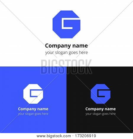 G logo. The letter g logotype Vector design template.