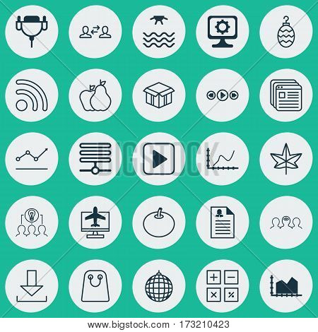 Set Of 25 Universal Editable Icons. Can Be Used For Web, Mobile And App Design. Includes Elements Such As Female Application, Increasing Line Chart, Radish And More.