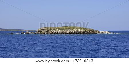 Small Island off North East Coast of Akamas Peninsula Cyprus