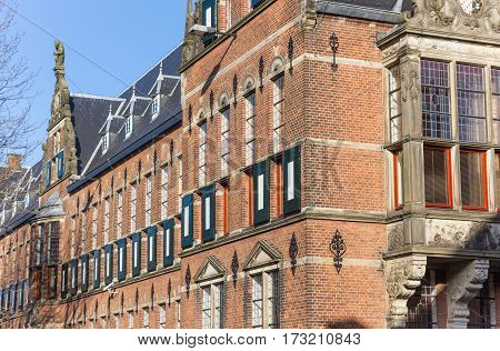 Windows And Blinds Of The Province House In Groningen