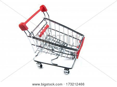 Shopping cart isolated on white background ready for dlivery