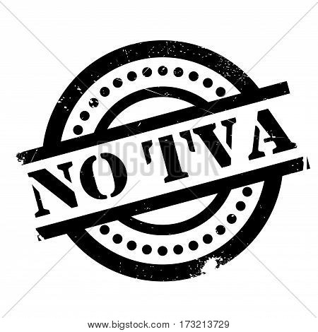 No Tva rubber stamp. Grunge design with dust scratches. Effects can be easily removed for a clean, crisp look. Color is easily changed.