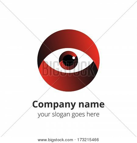 Eye Logo design vector template. Colorful gradient media icon. Creative Vision Logotype concept. Red Eye Logo vision.