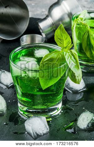Basil Cocktail Or Liquor