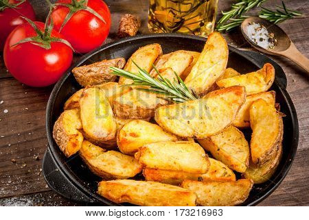 Fried Potatoes In A Rural Style