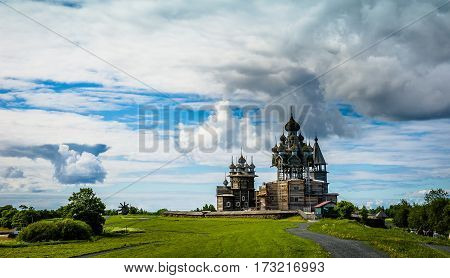 The island of Kizhi - Russian historical ensemble of wooden architecture