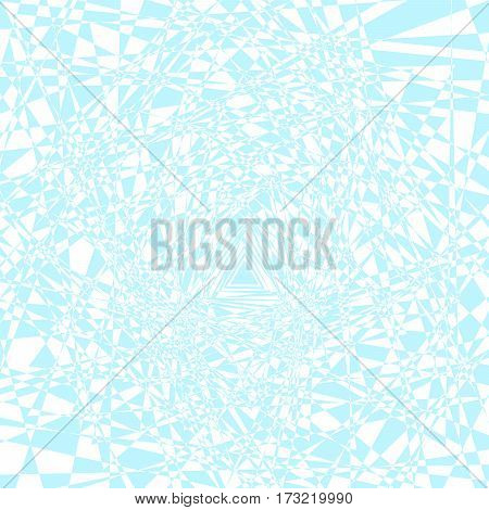 Vector illustration of simple geometric shapes blue triangles randomly arranged on a white background.