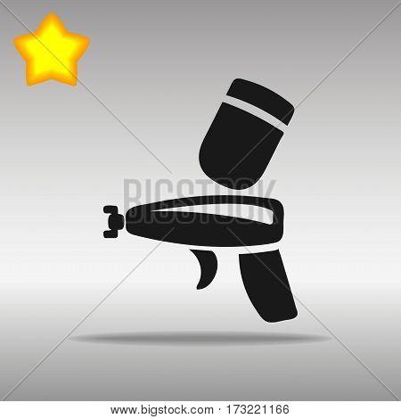black Spray gun Icon button logo symbol concept high quality on the gray background