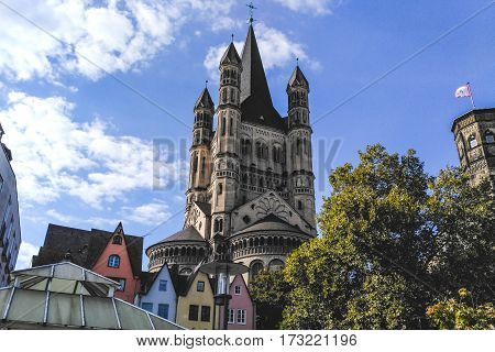 Cologne center church main square western germany