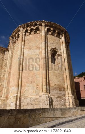 Apse Of Romanesque Church Of San Miguel Or San Valero, Daroca, Zaragoza Province, Aragon, Spain  (13